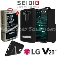 Seidio LG V20 SURFACE Case Cover W/ Metal Kickstand & Belt-Clip Holster Combo