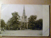 Vintage POSTCARD- Bedford- St. Paul's Church, Bedfordshire