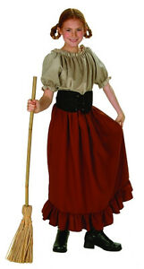 Renaissance Girl Peasant Farmer Medieval Pioneer Child Kids Costume
