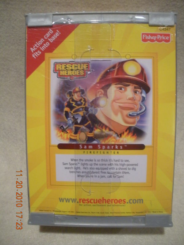 Rescue Heroes 2004 Collectors Collectors Collectors Edition Sam Sparks New  403b68
