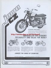 Jawa CZ Sport Twin 250cc Motorcycle 1975 Magazine Advert #1845