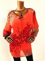 Roz & Ali $44.00 Women 2 In 1 Top Blouse 2x Plus Size 3/4 Sleeve Multi-color