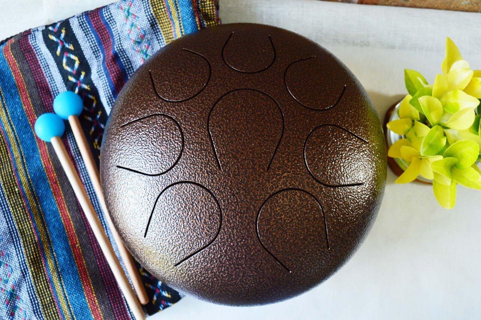 Hand pan Wuyou 10in Steel Tongue Tank Handpan Drum meditation Healing sound drum