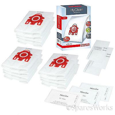 12 x MIELE FJM Dust Bag Genuine Original Hyclean Bags Motor Filter Pack