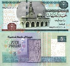 EGYPT 5 Pound Banknote World Paper Money UNC Currency BILL p63b Africa Note