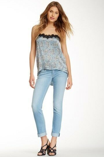 Hudson Jeans Women's Bacara Cuffed Straight Leg Jeans Sz 27