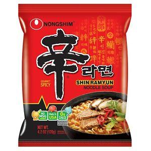 [16 Packs] Nongshim Shin Noodle Ramyun, Gourmet Spicy Picante, 4.2-Ounce