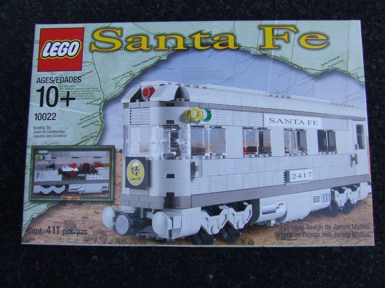 New  Lego 10022 Santa Fe Train Car ( 3 in one Models )  Sealed Box Rare Set
