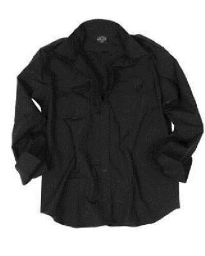 Bekleidung US FELDHEMD Tropenhemd Army 1/1 ARM Hemd Long Sleeve shirt schwarz Large