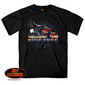5deadb18 Details about Ride Free American Flag Motorcycle POW MIA Short Sleeve Eagle  T Shirt
