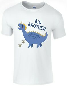 Blue-Dinosaur-Big-Brother-Boys-T-Shirt-Printed-Gift-Top-Pregnancy-Reveal