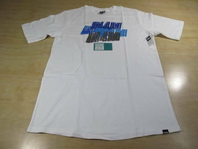 IN4MATION IN4M STENCIL TEE SHIRT M WHITE HAWAII HI ALOHA IN4MANTS NWT
