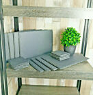 Set of 6 Natural Slate Dinner Platter Table Placemats Cheese Sushi Boards