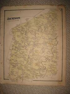 Antique 1870 Jackson Township Marathon Monterey Clermont County Ohio