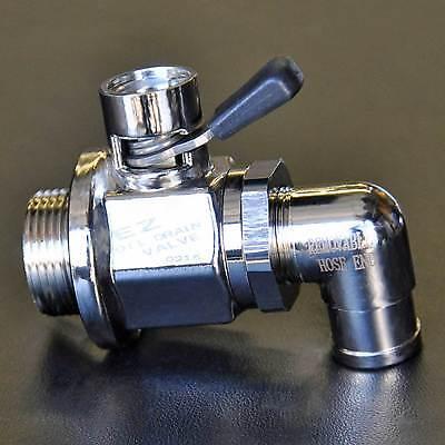 EZ-124 10mm-1.25 EZ Oil Drain Valve with removable L-Shape Hose End Combo L-001