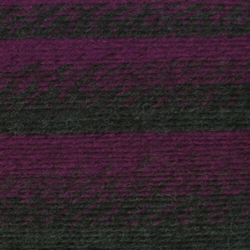 Pack of 3 skeins Charcoal//Magenta Lion Brand Yarn 826-212 Scarfie Yarn