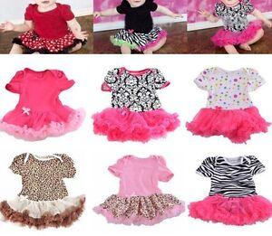 Lovely-Baby-Toddler-Girls-Ruffles-Tutu-skirt-Romper-One-Piece-Outfit-Dress-0-12M