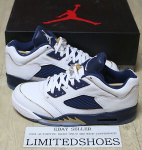 ed4359c34 NIKE AIR JORDAN 5 V RETRO LOW DUNK FROM ABOVE 819171-135 gold fire ...