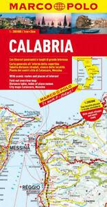 Cartina Calabria Immagini.Calabria Cartina Stradale Regionale Scala 1 200 000 Mappa Carta Marco Polo Ebay