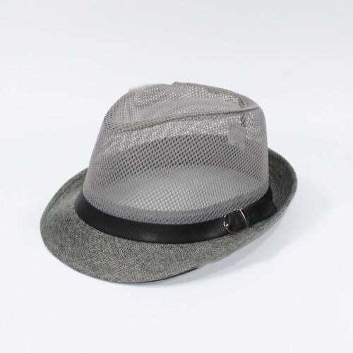 Fedora Wide Brim Straw Trilby Cap Hollow Ventilation Beach Summer Men Hat