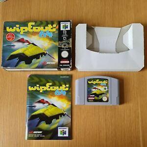 Wipeout 64 NINTENDO 64 N64 PAL Juego en Caja Completa Con Manual Gratis P&P