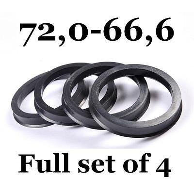 Hub Centric Rings Alloy Wheels Spigot Rings Centre Rings 72.0-66.6 72,0-66,6