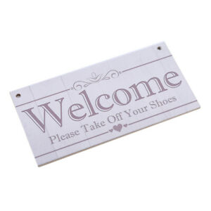 Wood-Sign-Welcome-Plaque-Wall-Hanging-Decor-Wooden-Home-Party-Garden-Decor-G