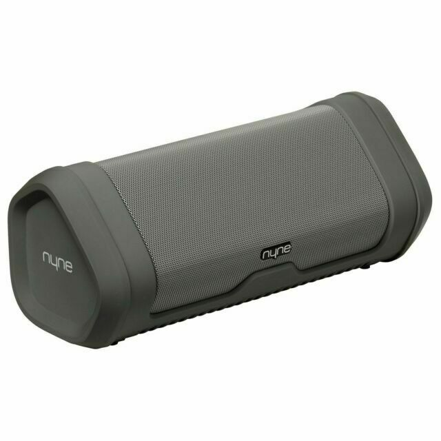 Nyne Vibe Portable Bluetooth Speaker with Water Resistant - Gray