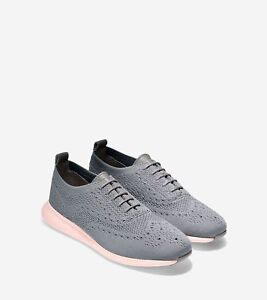 e35e5342c9ab4 Details about COLE HAAN Women's 2.ZeroGrand Stitchlite Oxford Shoes  Gray/Pink Size 8.5 US