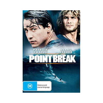 Point Break  DVD Brand New Aus Region 4 - Keanu Reeves, Patrick Swayze