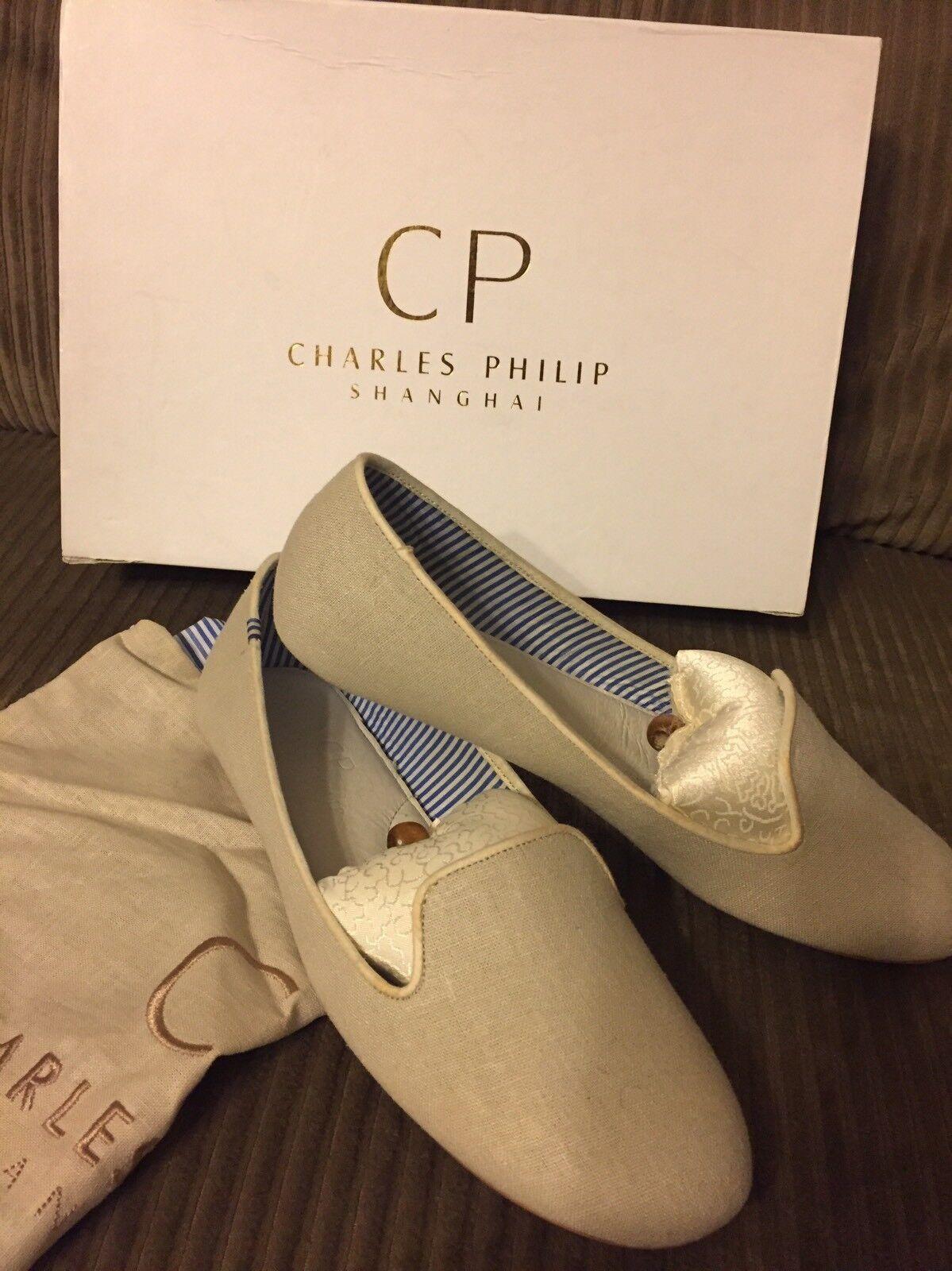 Charles Philip Shanghai Canvas Leather Loafer 6.5 NIB