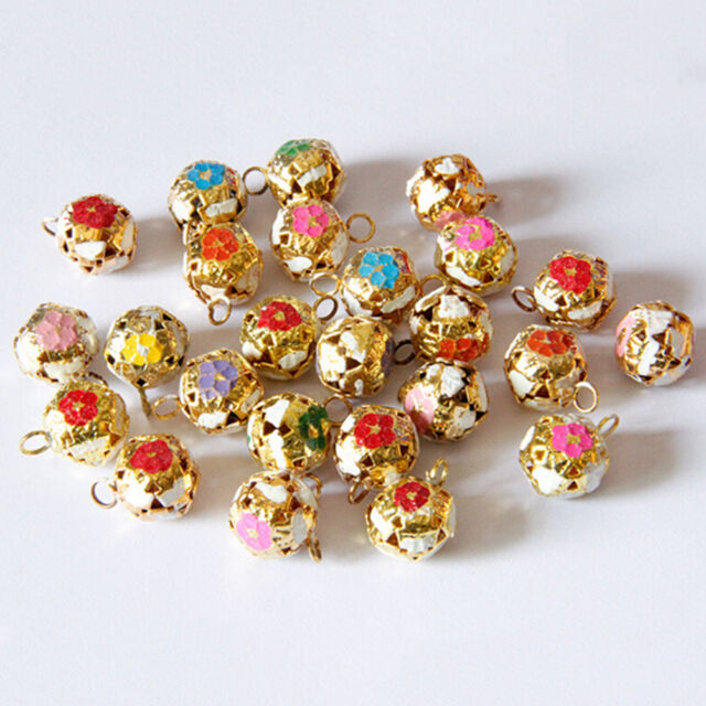 12mm Hollow Pet Dog Bells Small Jingle Bell Fit Festival Jewelry Pendant Decor .