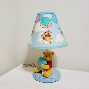Winnie the Pooh and Piglet Plush Lamp Dolly Inc Original Shade TESTED