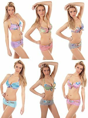 Damen Bikini-Sets v. Push-Up, Triangel, Neckholder bis Bandeau / Bademoden