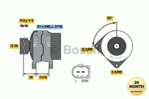 BOSCH Brand New ALTERNATOR UNIT for AUDI A3 Sportback 2.0 FSI 2004-2008