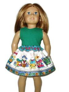 Easter-Bunny-Skirt-Green-Top-fits-American-Girl-dolls-18-034-Doll-Clothes