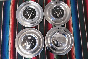 vintage hub caps set buick v wheel covers hubcaps  image is loading vintage hub caps set 1953 buick v8 15
