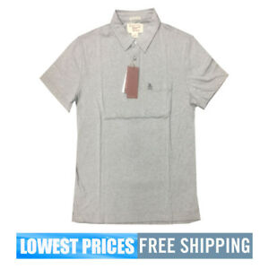 Penguin-Men-039-s-NWT-Pocket-Polo-Shirt-in-Grey-Griffin-Model-MSRP-69-Free-Shipping