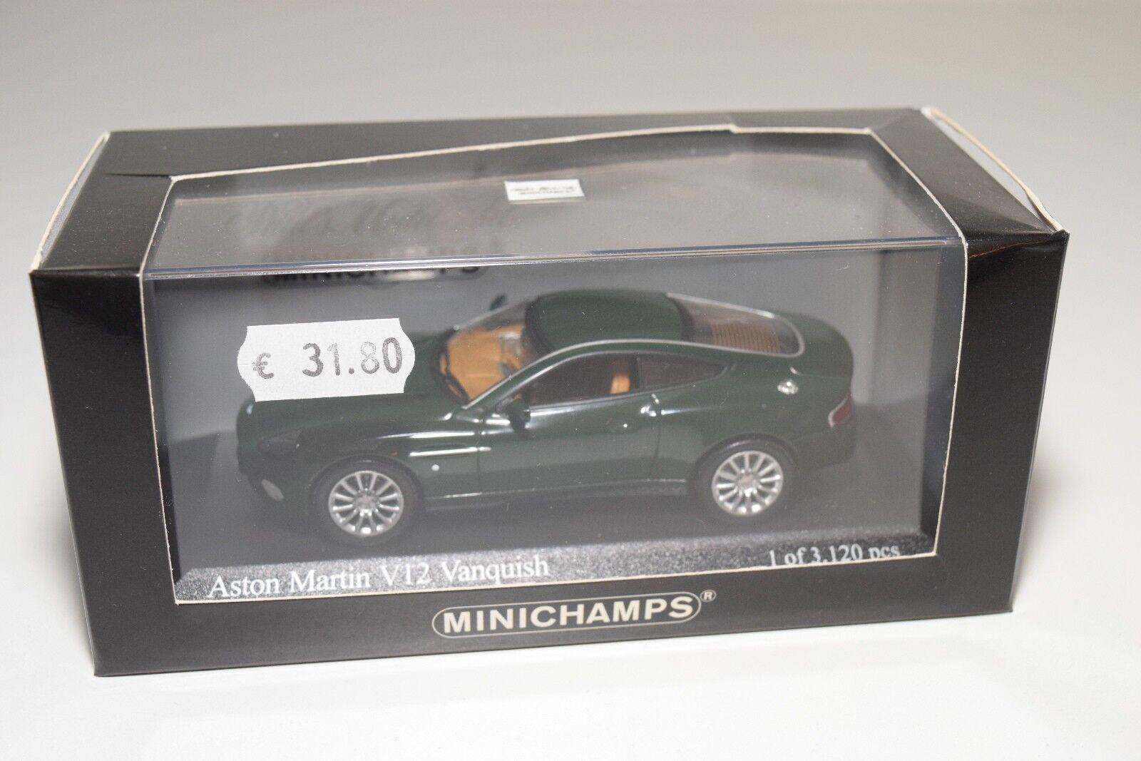MINICHAMPS ASTON MARTIN V12 VANQUISH GREEN MINT BOXED
