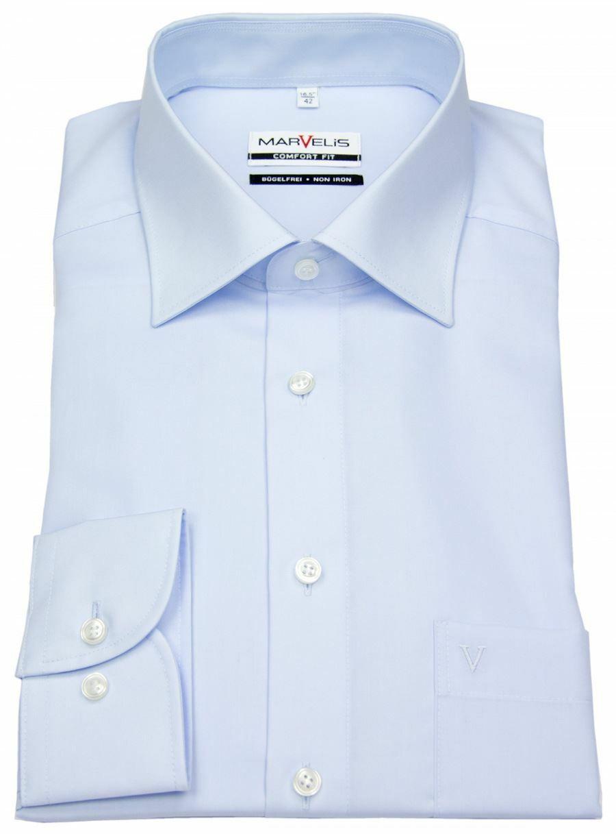 Sky Blue Poplin Spread Collar