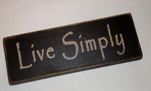 rustic primitive country wood sign quot live simply quot home