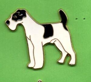 Pin-039-s-Lapel-pin-Pins-Animal-Chien-Dog-FOX-TERRIER-BLANC-ET-NOIR