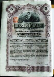 The-Russian-Tobacco-Company-5-shares-5-bond-dated-1915