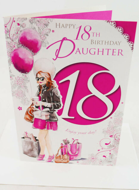 Happy 18th Birthday Daughter Greeting Card Envelope Seal Luxury Milestone