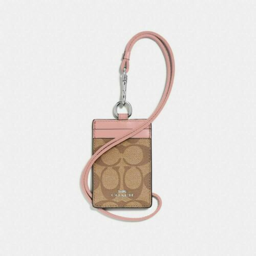 Coach ID Lanyard Badge Holder Case Card Neck Signature PVC Leather 63274 NWT