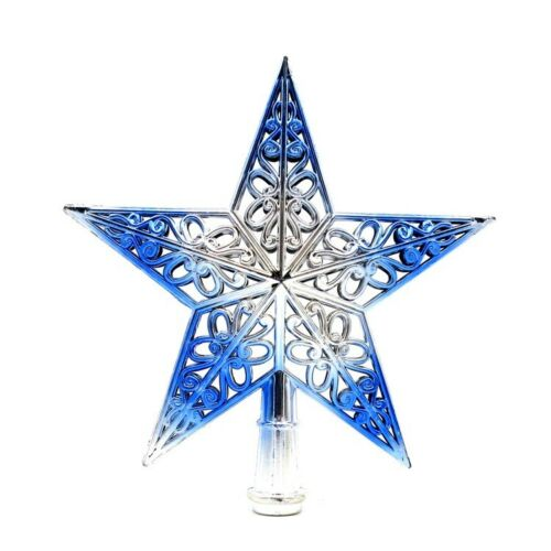 Christmas Party Decoration Tree Topper Ornaments Xmas Hollowed-out Tree Topper