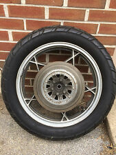 OEM 2.15x18 rear wheel & tire from 1979 SUZUKI GS550E motorcycle