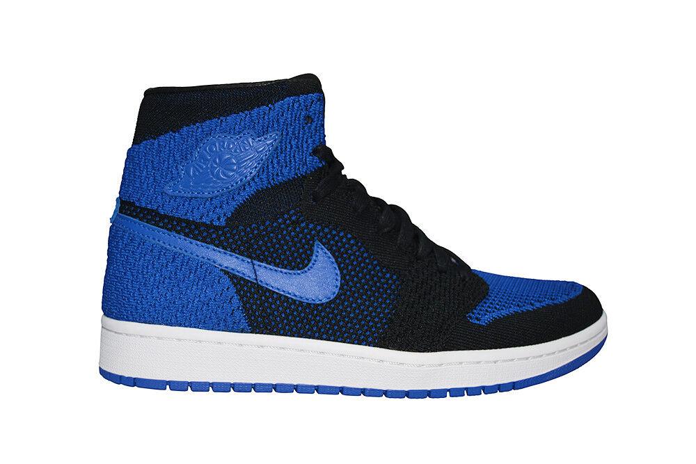 Homme Nike Air Jordan 1 Retro Hi Flyknit - 919704006-Bleu Noir Blanc Baskets
