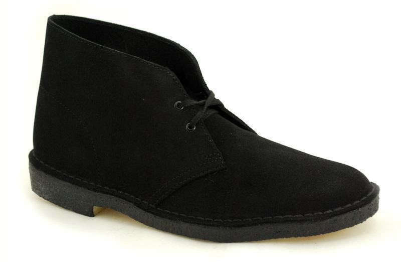Der Klassiker Clarks Originals The Desert Boot Black Suede 00111763 (2)