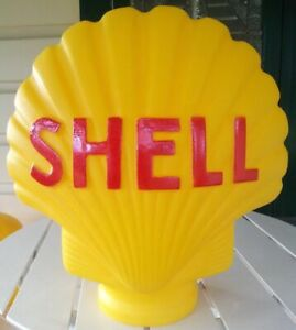 SHELL-BOWSER-PUMP-GLOBE-LARGE-YELLOW-REPO-LIGHT-FUEL-PETROL-PUMP-COLLECTORS-NEW